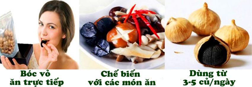 Cách sử dụng tỏi đen một nhánh Việt Nam
