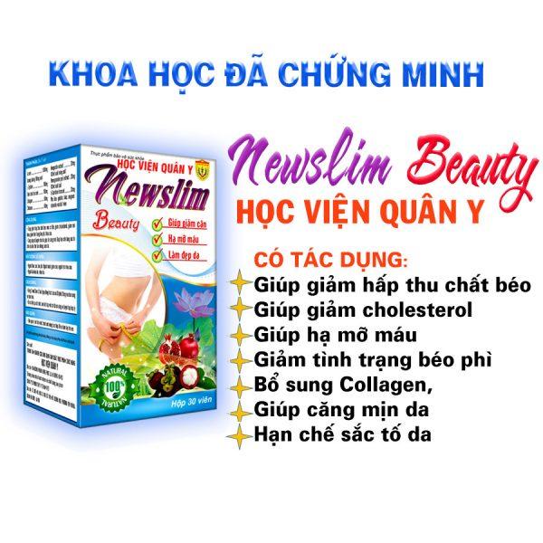 Công dụng của viên uống giảm cân - đẹp da Newslim beauty