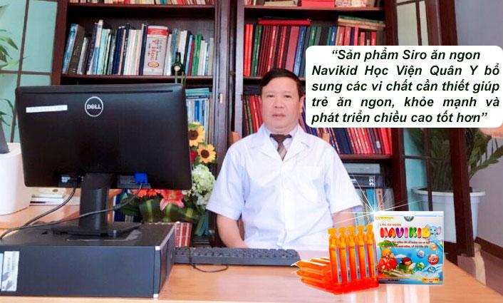 Gs.Ts. Vũ Mạnh Hùng nguyên giảng viên Học Viện Quân Y nhận xét về sản phẩm Siro ăn ngon navikid