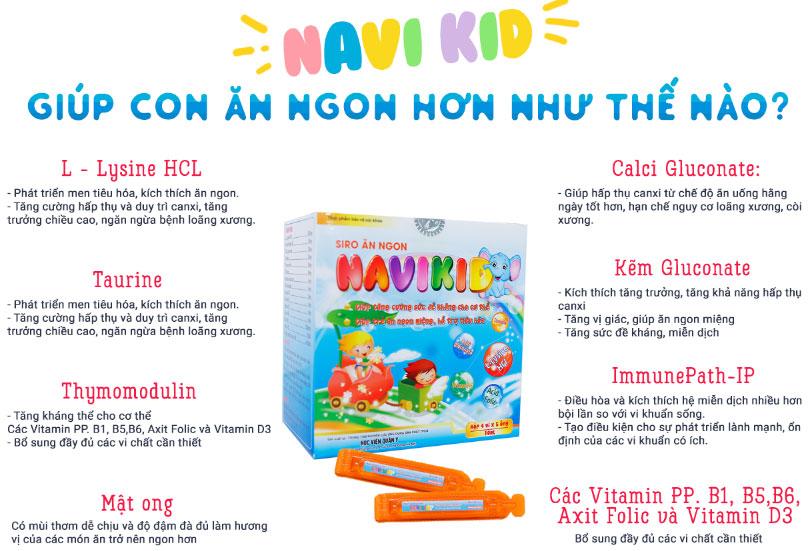 Siro ăn ngon Navikid mang lại hiệu quả cao cho trẻ biếng ăn do tâm lý