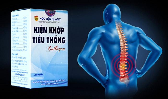 Kiện khớp tiêu thống Collagen Học viện Quân Y- Hỗ trợ giảm đau xương khớp