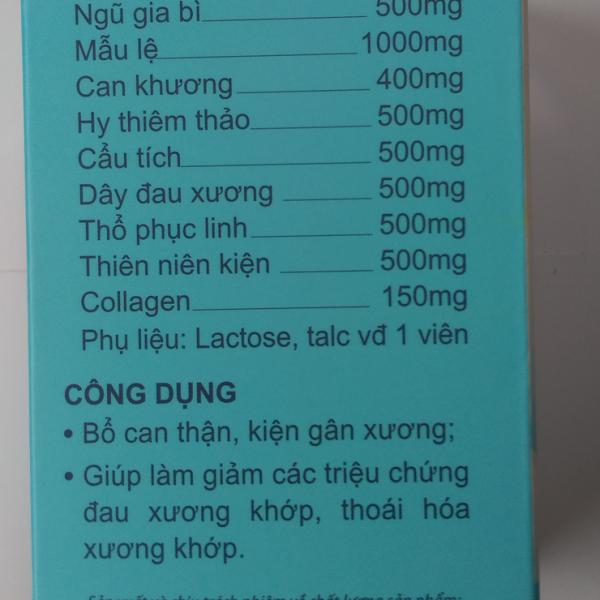 Thành phần của kiện khớp collagen Học viện Quân y