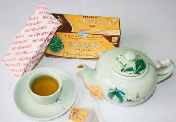 Cách dùng trà thảo dược tanaka Học Viện Quân Y