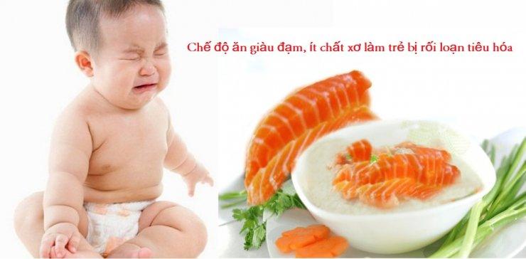 Chế độ ăn uống là nguyên nhân dẫn đến trẻ bị rối loạn tiêu hóa
