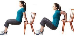 Chỉ với ghế bạn có thể giảm mỡ bắp tay không cần tới phòng tập