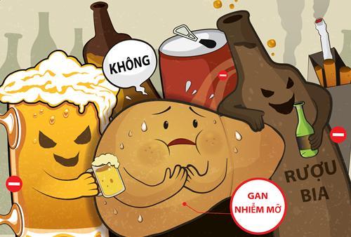 Bệnh gan nhiễm mỡ không nên ăn đồ cay nóng và uống bia rượu