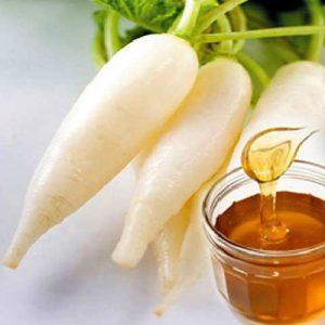 Củ cải trắng-mật ong chữa ho khi mang bầu an toàn hiệu quả