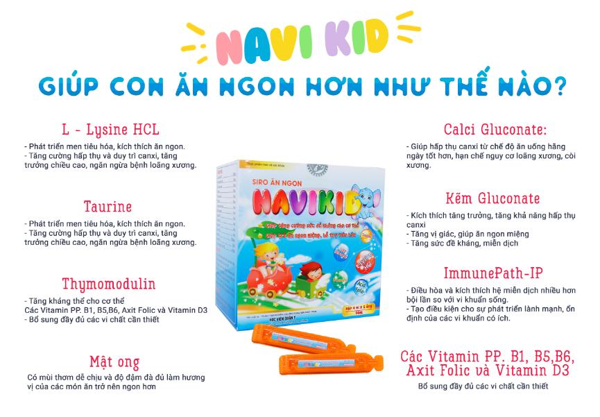 Siro ăn ngon Navikid cải thiện tình trạng biếng ăn ở trẻ