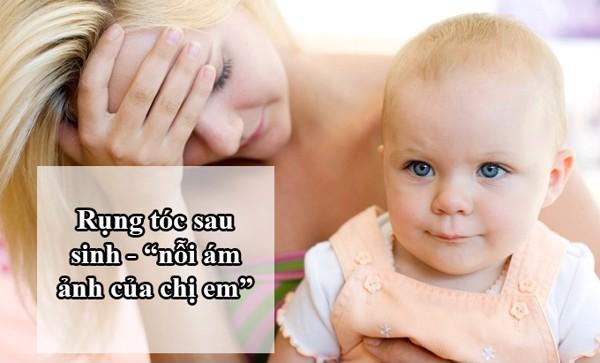 Có rất nhiều nguyên nhân dẫn đến tình trạng rụng tóc sau sinh