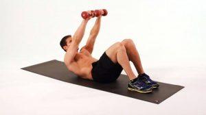 Gập bụng là bài thể dục giúp giảm mỡ bụng cho nam giới hiệu quả