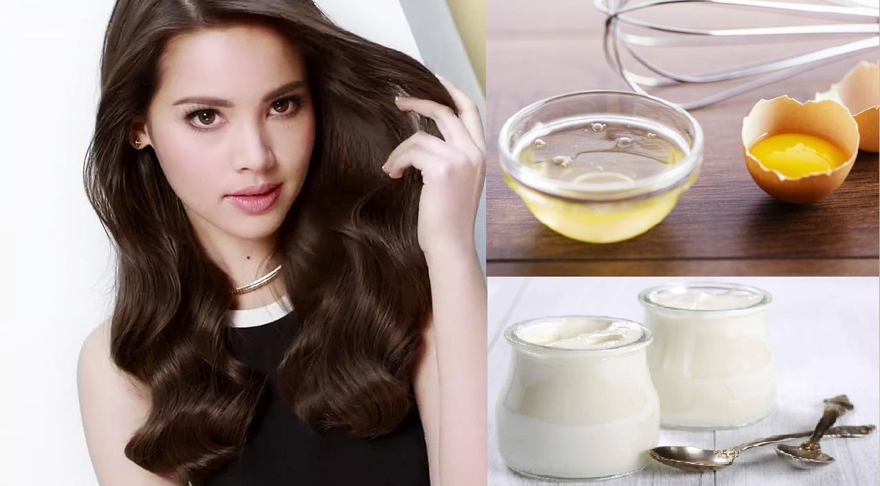 Cách làm tóc mọc nhanh từ trứng và sữa chua
