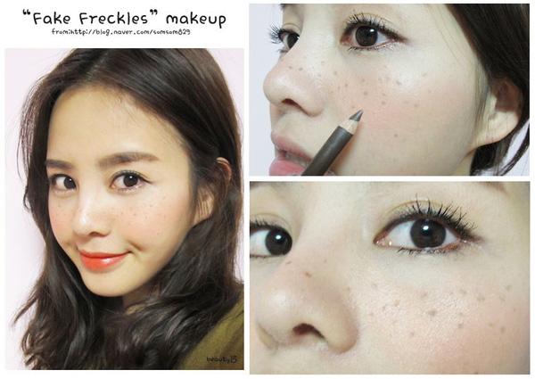 Tạo tàn nhang giả là xu hướng trang điểm makeup mới hiện nay
