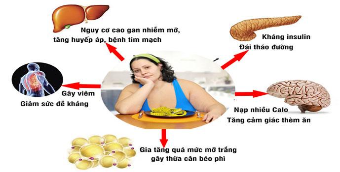 Hệ lụy vô cùng nguy hiểm do béo phì