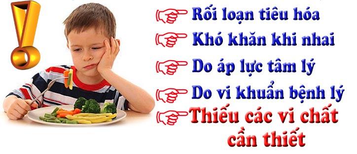 Những nguyên nhân dẫn đến tình trạng biếng ăn ở trẻ