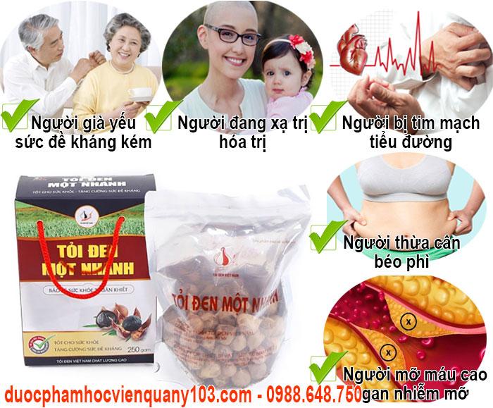 Những đối tượng thích hợp sử dụng tỏi đen một nhánh Việt Nam.