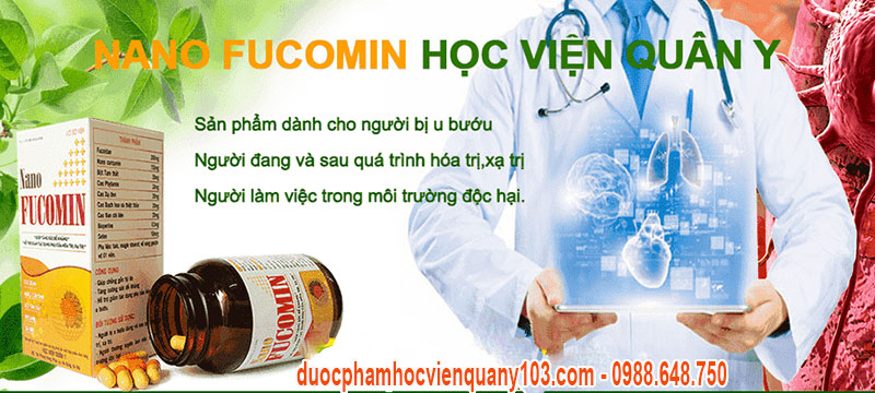 Nano Fucomin Học Viện Quân Y là giải pháp tối ưu nhất trong phòng và hỗ trợ điều trị ung thư.