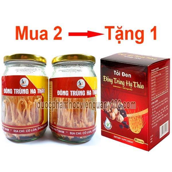 2 Lọ đông trùng hạ thảo Việt Nam