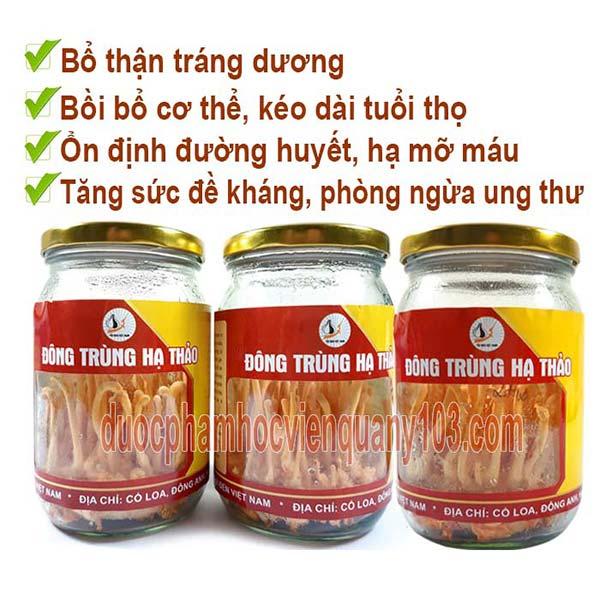 3 lọ đông trùng hạ thảo Việt Nam