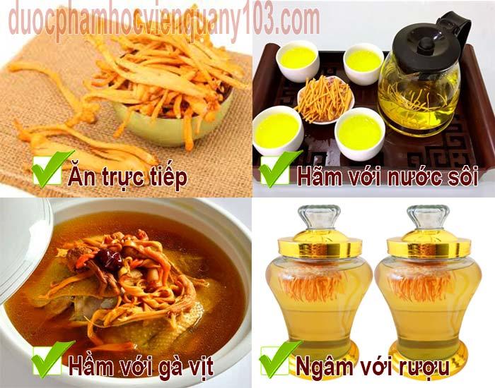 Một số cách sử dụng Đông trùng hạ thảo Việt Nam phù hợp nhất