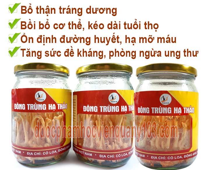Những công dụng chính của Đông trùng hạ thảo Việt Nam