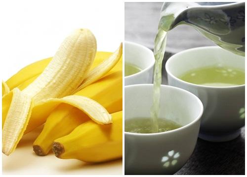 Giảm béo bụng tại nhà bằng chuối và trà nóng