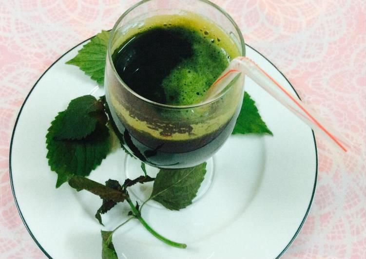 Trị tàn nhang bằng lá tía tô với phương pháp uống sinh tố