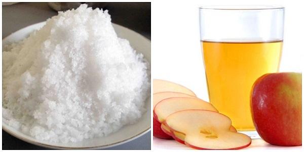 Phương pháp giảm mỡ bụng bằng muối hột rang và giấm táo