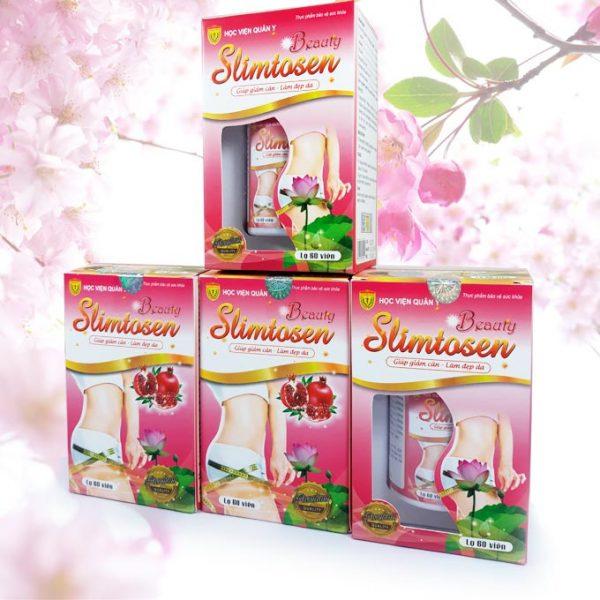 4 hộp Slimtosen Beauty Học Viện Quân Y