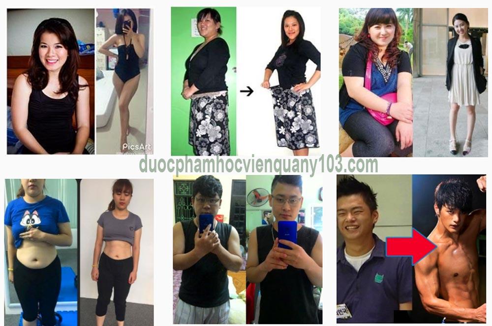 Hàng nghìn khách hàng đã có được vóc dáng như ý sau khi sử dụng giảm cân Slimtosen Beauty Học Viện Quân Y