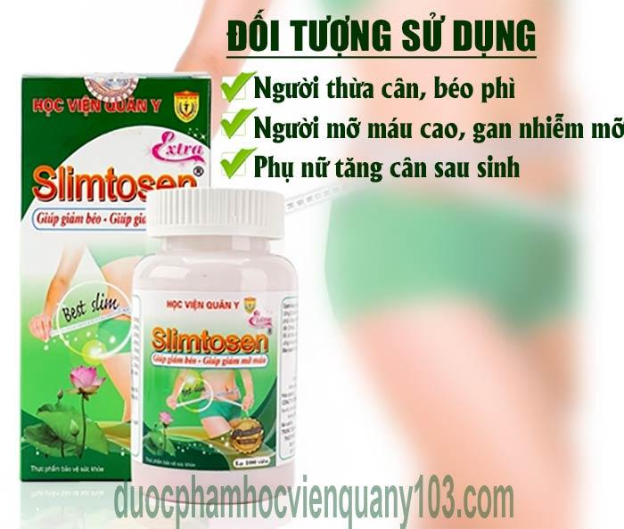 Đối tượng sử dụng slimtosen extra hvqy