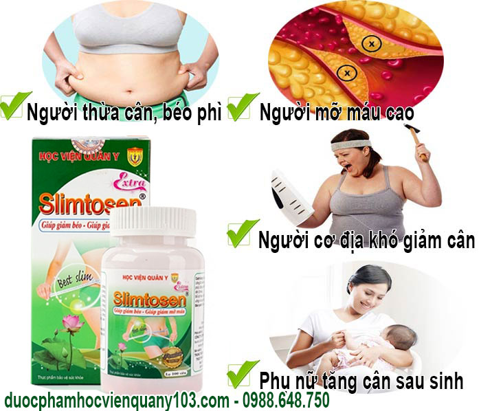 Những dối tượng thích hợp sử dụng Slimtosen Extra