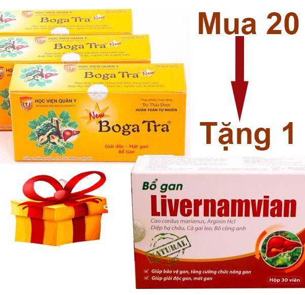 Khuyến mãi chưa từng có khi mua trà mát gan Bogatra Học Viện Quân Y