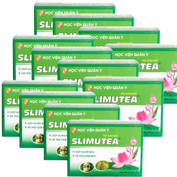 12 hộp trà giảm cân slimutea hvqy