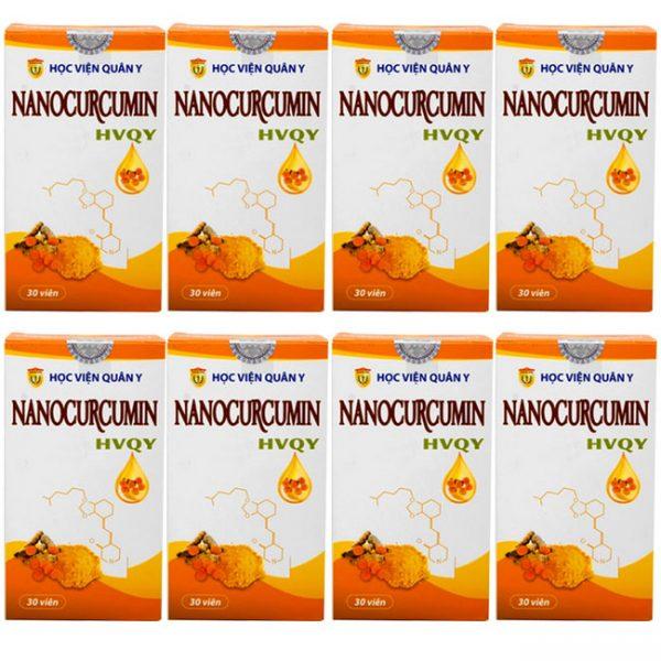 8 hộp nano curcumin học viện quân y