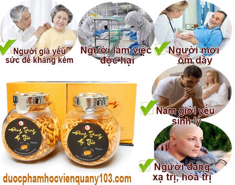 Những đối tượng thích hợp sử dụng đông trùng hạ thảo Việt Nam