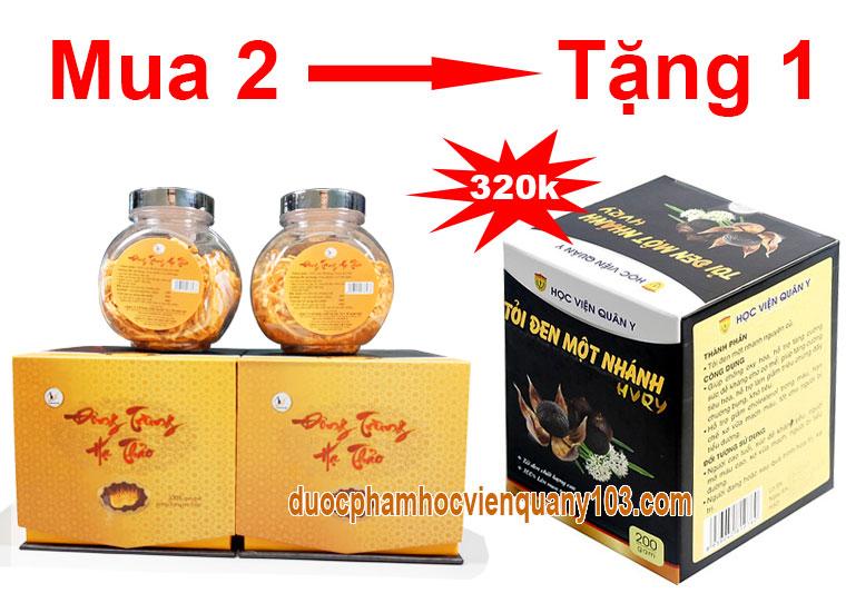 Khuyến mãi chưa từng có khi mua 2 hộp đông trùng hạ thảo khô Việt Nam 10gr