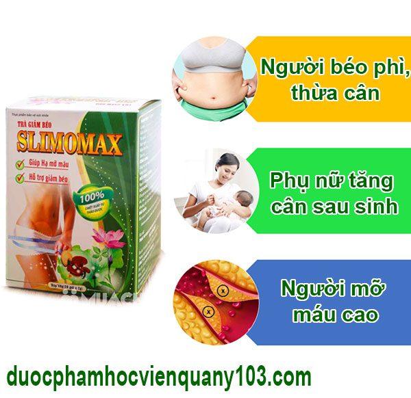 Đối tượng sử dụng trà slimomax HVQY