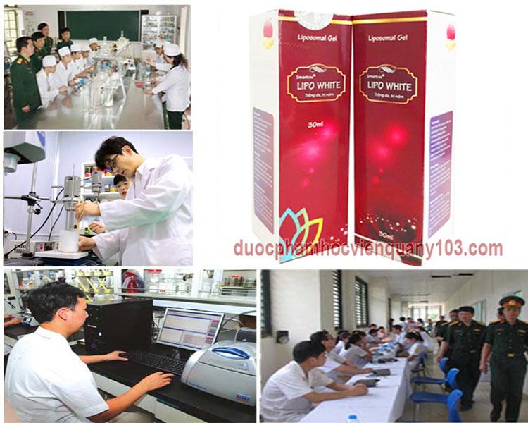 Kem trị nám Lipo White Học Viện Quân Y được sản xuất bằng công nghệ hiện đại nhất của Hàn Quốc