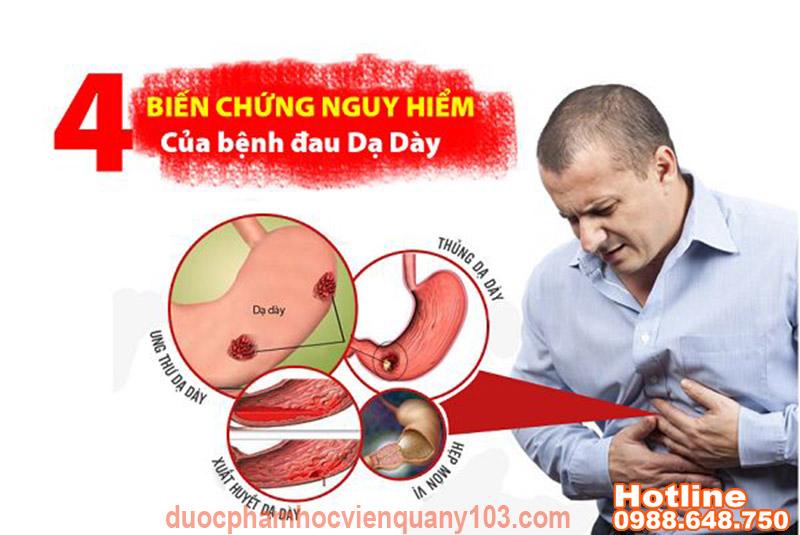 nano curcumin hp Những biến chứng nguy hiểm của bệnh viêm loét dạ dày
