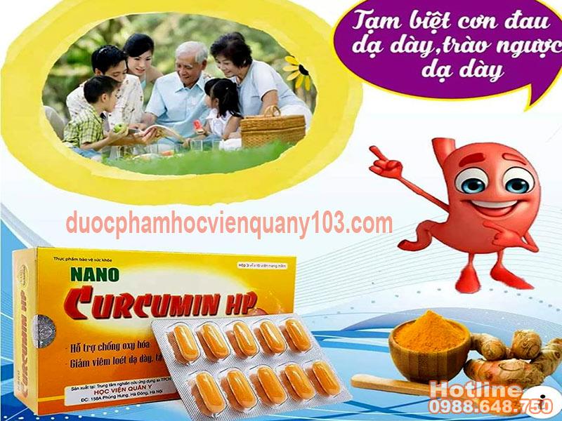 Nano Curcumin HP Học Viện Quân Y là giải pháp tối ưu nhất cho bệnh viêm loét dạ dày
