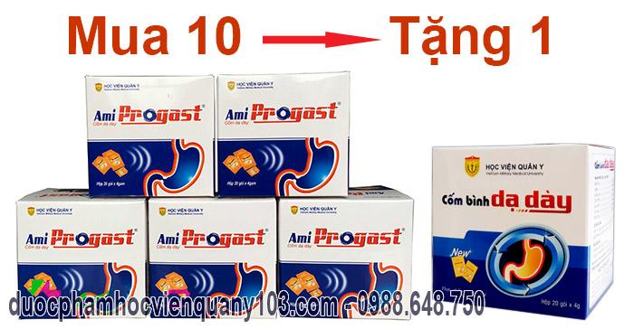 Khuyến mại chưa từng có khi mua cốm dạ dày Ami Progast Học Viện Quân Y