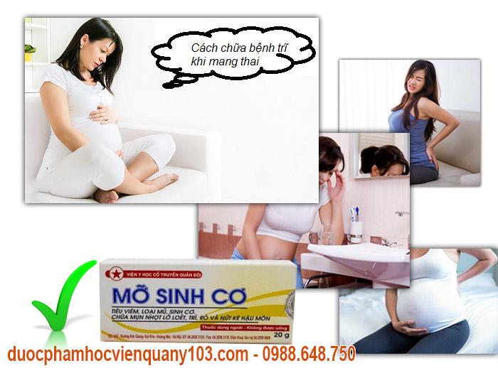 Thuốc Mỡ Sinh Cơ bôi trì viện Y Học Cổ Truyển Quân Đội rất thích hợp dùng cho phụ nữ khi mang thai.