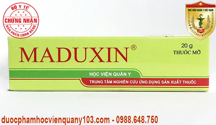 Thuốc chữa bỏng Maduxin chính hãng do Học Viện Quân Y Việt Nam nghiên cứu và sản xuất.