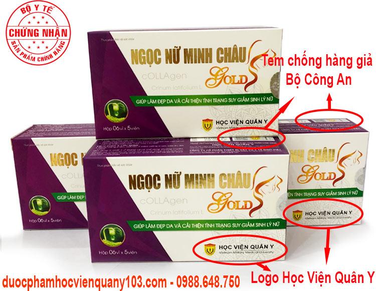 Ngoc Nu Minh Chau Gold Hoc Vien Quan Y Chinh Hang
