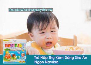 Trẻ Hấp Thụ Kém Dùng Siro Ăn Ngon Navikid